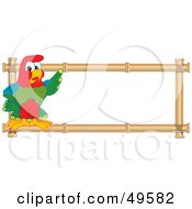 Royalty Free RF Clipart Illustration Of A Macaw Parrot Character Mascot Bamboo Logo by Toons4Biz