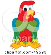 Royalty Free RF Clipart Illustration Of A Macaw Parrot Character Mascot by Toons4Biz