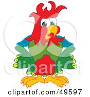 Royalty Free RF Clipart Illustration Of A Macaw Parrot Character Mascot With Funky Hair