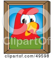 Royalty Free RF Clipart Illustration Of A Macaw Parrot Character Mascot Portrait by Toons4Biz