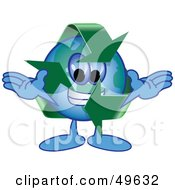 Royalty Free RF Clipart Illustration Of A Recycle Character Mascot by Toons4Biz