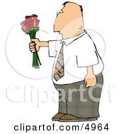 Man Giving Flowers Clipart