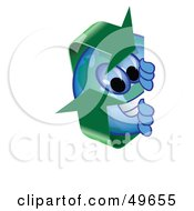 Royalty Free RF Clipart Illustration Of A Recycle Character Mascot Peeking by Toons4Biz