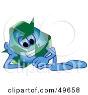 Royalty Free RF Clipart Illustration Of A Recycle Character Mascot Resting by Toons4Biz