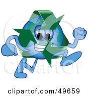 Recycle Character Mascot Running