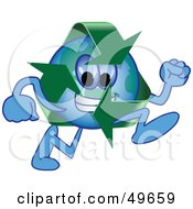 Royalty Free RF Clipart Illustration Of A Recycle Character Mascot Running