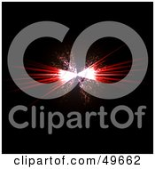 Royalty Free RF Clipart Illustration Of A Bursting Red Explosion On Black