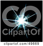 Royalty Free RF Clipart Illustration Of A Bright Aqua Colored Burst On Black
