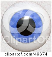 Royalty Free RF Clipart Illustration Of A Blue Bloodshot Eyeball
