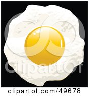 Royalty Free RF Clipart Illustration Of A Fried Egg With The Yolk On Top