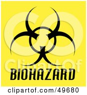 Royalty Free RF Clipart Illustration Of A Black Biohazard Symbol On Yellow