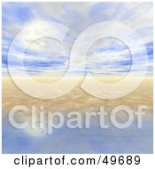 Royalty Free RF Clipart Illustration Of A 3d Ocean And Sky Horizon Seascape Background by Arena Creative