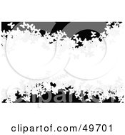 Royalty Free RF Clipart Illustration Of A White Grungy Butterfly Wave On Black by Arena Creative