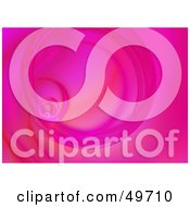 Royalty Free RF Clipart Illustration Of A Bright Pink Spiraling Fractal Background