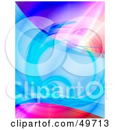 Royalty Free RF Clipart Illustration Of A Colorful Background Of Blues And Pinks With Tunnels