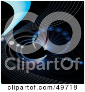 Royalty Free RF Clipart Illustration Of A Wave And Spiral Fractal On Black by Arena Creative