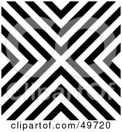 Royalty Free RF Clipart Illustration Of A Black And White Line Background Forming An X by Arena Creative #COLLC49720-0094