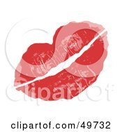 Royalty Free RF Clipart Illustration Of A Pair Of Sexy Female Lips In Red Lipstick On White