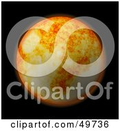 Royalty Free RF Clipart Illustration Of A Fiery Orange Planet In The Blackness Of Space by Arena Creative