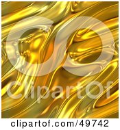 Royalty Free RF Clipart Illustration Of A Luxurious Molten Gold Texture Background