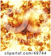 Royalty Free RF Clipart Illustration Of A Flaming Fire Background by Arena Creative