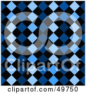 Royalty Free RF Clipart Illustration Of A Blue Diamond Row Background by Arena Creative