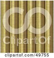 Royalty Free RF Clipart Illustration Of A Background Of Stacked Golden Coins