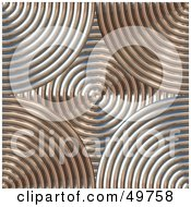 Royalty Free RF Clipart Illustration Of A Background Of Chrome And Copper Circles