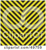 Royalty Free RF Clipart Illustration Of A Bright Yellow And Black Hazard Stripes Background