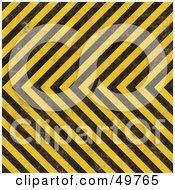 Royalty Free RF Clipart Illustration Of A Background Of Black And Yellow Hazard Stripes With Slight Grunge