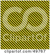 Royalty Free RF Clipart Illustration Of A Diagonal Black And Yellow Stripe Background