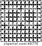 Royalty Free RF Clipart Illustration Of A Background Of Black And White Houndstooth Patterns