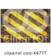 Royalty Free RF Clipart Illustration Of A Brown And Yellow Grungy Hazard Stripes Background