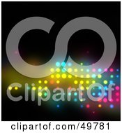 Royalty Free RF Clipart Illustration Of Colorful Lights Shining Through Holes On Black