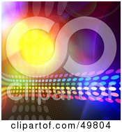 Royalty Free RF Clipart Illustration Of A Halftone Rainbow Flowing Over A Bright Background