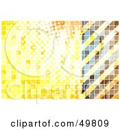 Royalty Free RF Clipart Illustration Of A Yellow Tile Hazard Stripe Background by Arena Creative