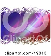 Royalty Free RF Clipart Illustration Of A Scribbled Fractal Text Box On White