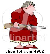 Armed Angry Woman With PMS Clipart by Dennis Cox