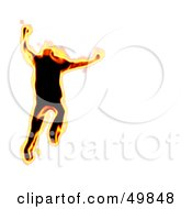 Royalty Free RF Clipart Illustration Of A Fiery Man Running On White by Arena Creative