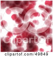Royalty Free RF Clipart Illustration Of A Background Of Blurry Red Blood Cells On White by Arena Creative