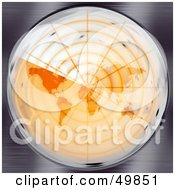 Orange Round Radar Screen Scanning The Map