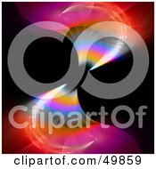 Royalty Free RF Clipart Illustration Of A Flowing Fractal Background With Colorful Waves On Black