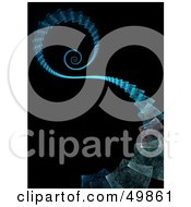 Royalty Free RF Clipart Illustration Of A Blue Fractal Step Path Spiraling Downwards by Arena Creative