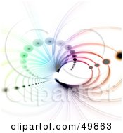 Royalty Free RF Clipart Illustration Of A Colorful Fractal Tunnel With Circles On White