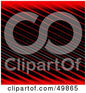 Royalty Free RF Clipart Illustration Of A Black Background With Red And White Diagonal Stripes