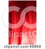 Royalty Free RF Clipart Illustration Of A Red Wrinkled Curtain Background