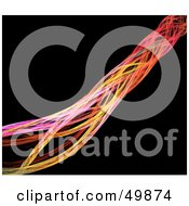 Royalty Free RF Clipart Illustration Of A Cable Of Colorful Fractals On Black