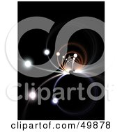Royalty Free RF Clipart Illustration Of A Fractal Tunnel With Illuminated Orbs On Black
