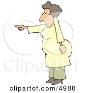 Agitated Woman Pointing Her Finger At Someone Clipart