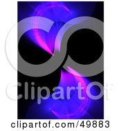 Royalty Free RF Clipart Illustration Of Pink And Blue Fractal Waves